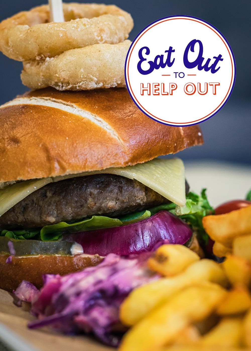 Delicious Eat Out to Help Out Burger