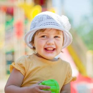 Little toddler having fun