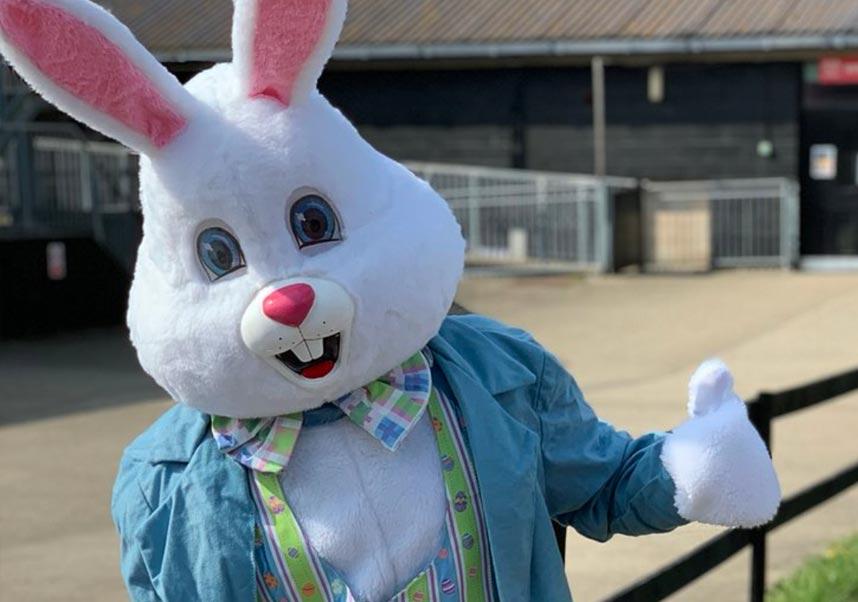 The Easter Bunny at Marsh Farm