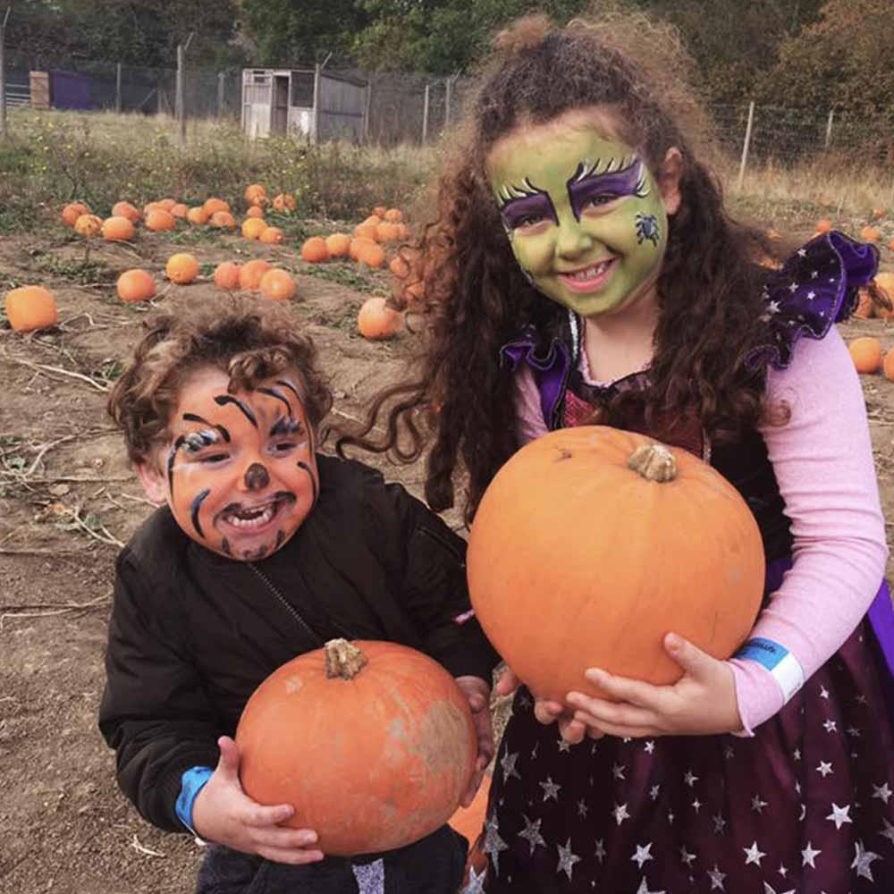 Children going Pumpkin Picking