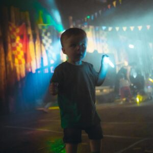 Toddler at a Mini Rave