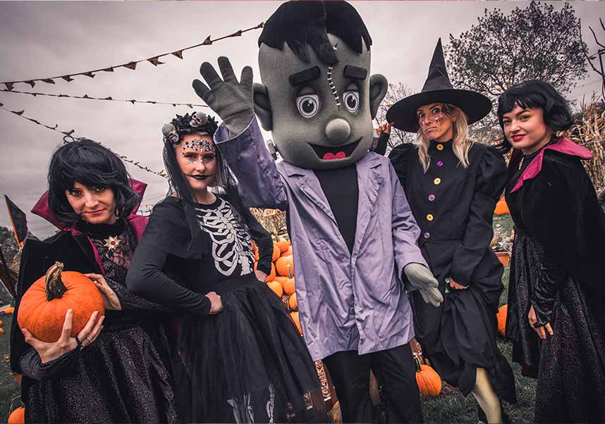 Witches and Frankenstien at our Halloween Festival